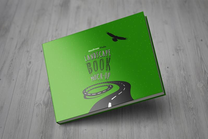 Landscape Book Mock-up